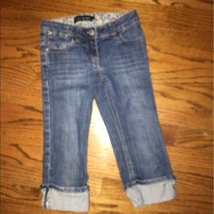 Mini Boden crop jeans adjustable waist
